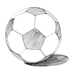Soccer ball Hand drawn