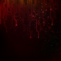 Abstract red lights background