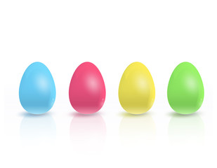 Colorful eggs. Vector design.