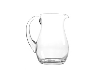 Glass jug isolated