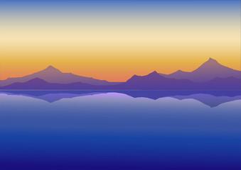 Durgun göl  (akşamüstü)