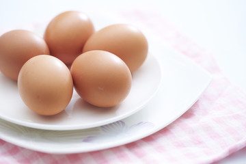 eggs in the plate