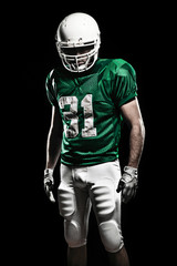 Fotobehang - Football Player with number