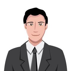 Vector portrait in comics