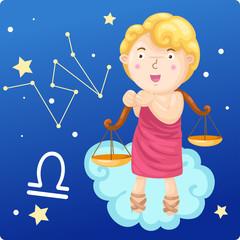 Zodiac signs - Libra vector Illustration