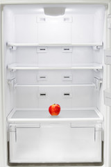 Apple in the refrigerator