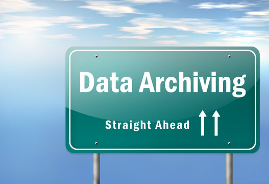 """Highway Signpost """"Data Archiving"""""""