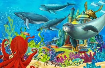 Poster Submarine The underwater castle - princess series