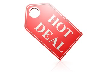 Hot deal label.