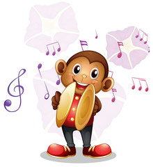 A musical monkey