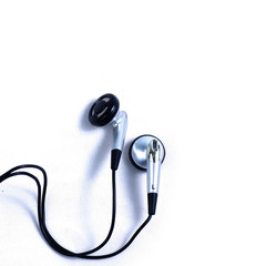 Earphone on isolate white background