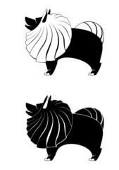 Vector dog silhouettes for design