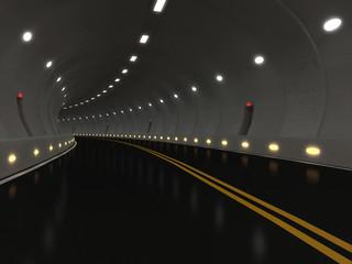3d Illustration of Urban Highway Road Tunnel