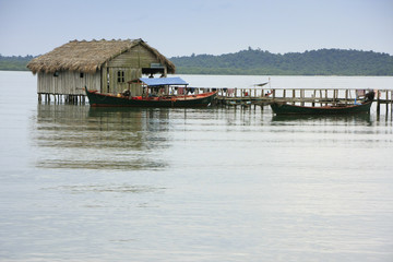 Stilt house, Ream National Park, Cambodia