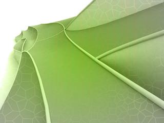 Green shaded shape design wide screen