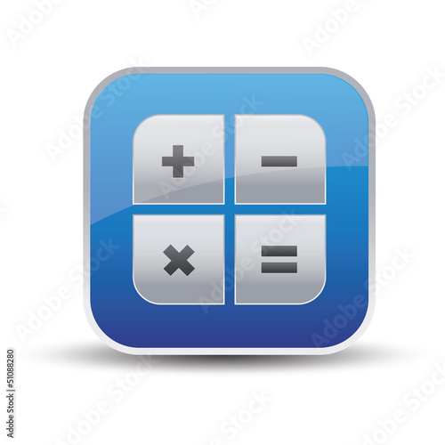 Calculator icon - vector app button