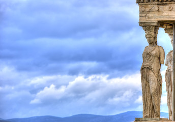 Wall Mural - Caryatids in Erechtheum from Athenian Acropolis,Greece