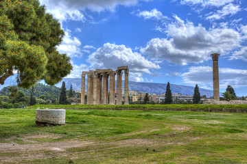 Wall Mural - ancient Temple of Olympian Zeus , Athens, Greece