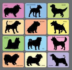 Dog Silhouettes 2