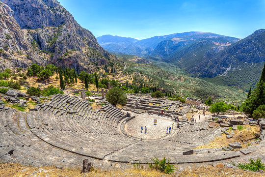 Ancient Theater in Delphi, Greece
