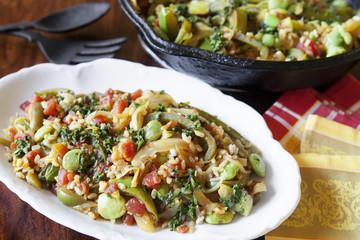 Vegetable Paella Stir-fry