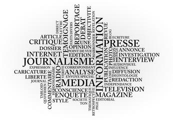 nuage de mots: journalisme