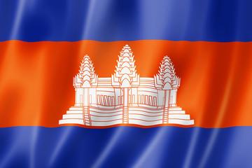 Cambodian flag Fototapete
