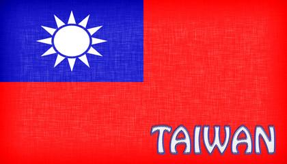 Linen flag of Taiwan