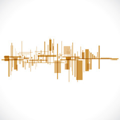 Abstract building / cityscape background stockvector