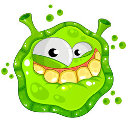funny cartoon germ