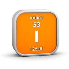 Iodine material sign