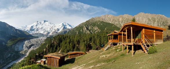 Nanga Parbat and Fairy Meadows Panorama