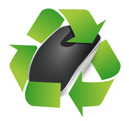 recycle sign and Wireless computer mouse