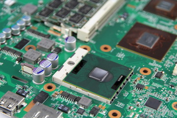 Electronic Circuit  - Motherboard - microprocessor