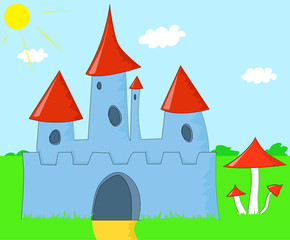Door stickers Castle The Magic Castle