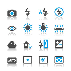 Photography icons - reflection theme