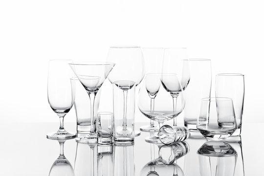 Verschiedene Trinkgläser