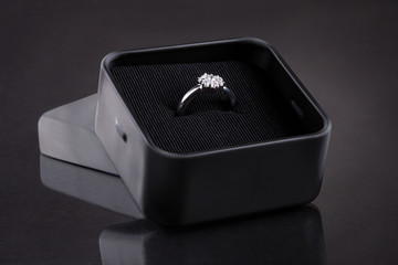 Diamond Ring In Case