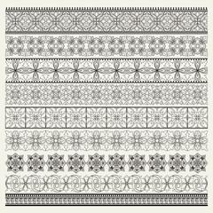 Set of ornamental borders, vintage style