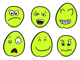 Emoticon faces vector