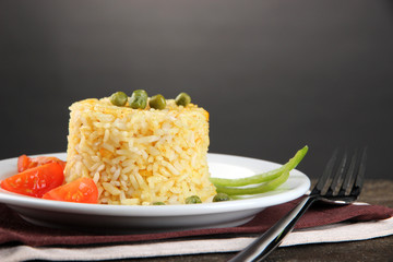 Delicious risotto with vegetables