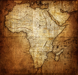 Fototapete - vintage map Africa