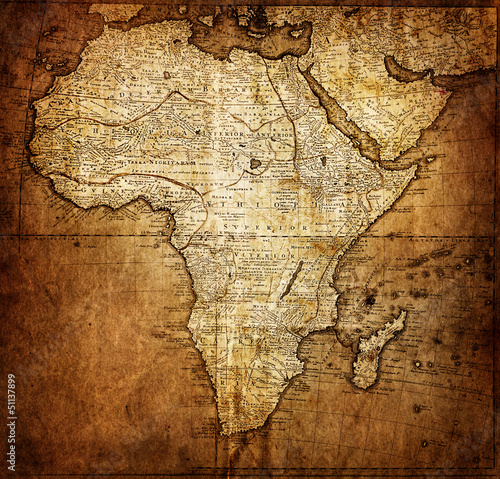 Fototapete vintage map Africa