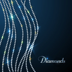 Diamonds background with copyspace