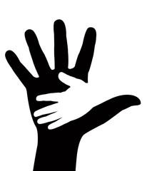 hand in hand, vector