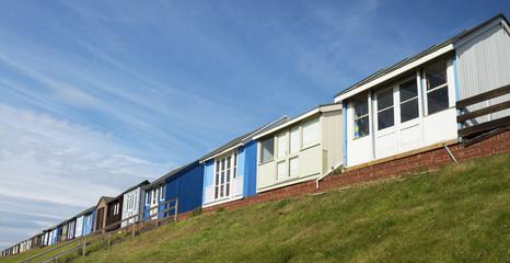Beach Huts at Sandilands, Lincolnshire, UK.