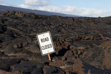 Lava blocked the road