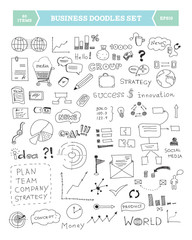 Business doodle elements set