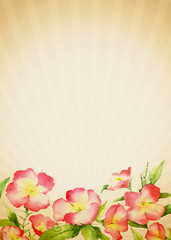 Old-fashioned Floral Background