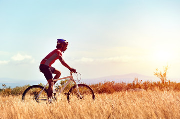 Fototapete - healthy lifestyle cycling